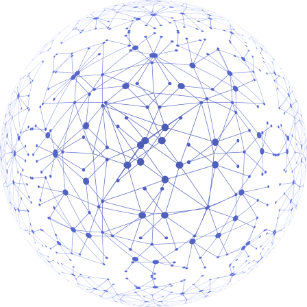 """This is a stock image of a globe with connected dots all over it. The globe is clear and the dots and lines are purple. """"Connections across the globe"""" is implied."""